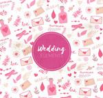 婚礼元素无缝背景