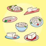 豆腐料理插画