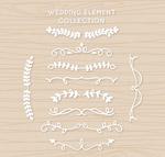 白色婚礼花边