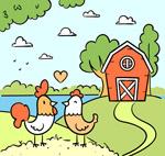养鸡场情侣鸡