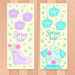 春季服装促销海报