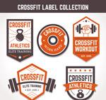 健身标签矢量