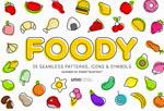 卡通食品果蔬图案