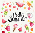 夏季食物框架
