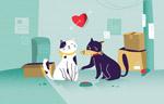 卡通猫情侣