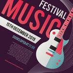 音乐节矢量海报