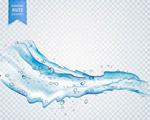 透明流淌的水滴