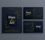 黑色婚礼卡套件