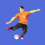 抽象足球运动员