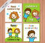 儿童节人物卡片