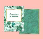 夏季棕榈树叶卡片