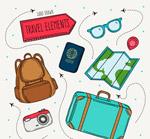 彩绘旅游元素