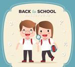 返校的男孩和女孩