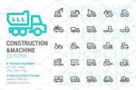 建筑与机器图标