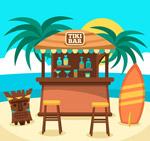 夏威夷沙滩酒吧