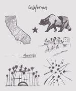 加州速写素材