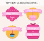 生日丝带标签