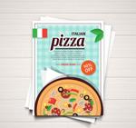 披萨折扣宣传单