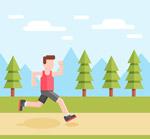 跑步健身的男子