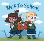 返校背包男孩女孩