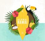 夏威夷元素标签