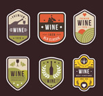 复古葡萄酒标签