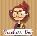 戴眼镜的女教师
