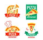 彩色披萨标签