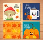 可爱秋季元素卡片