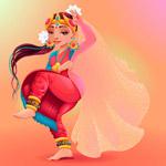卡通印度舞蹈人物