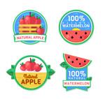 果汁标签矢量图