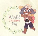世界旅游日女孩
