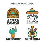 卡通墨西哥餐馆标
