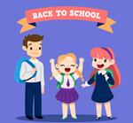 卡通返校学生
