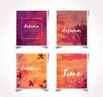 水彩绘秋季卡片