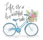 自行车隽语插画