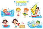 夏季玩水的儿童