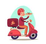 披萨店送餐员
