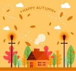 秋季房屋风景