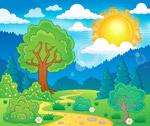 夏季郊外自然风景