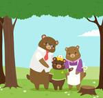 幸福熊三口之家