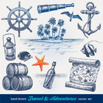 复古手绘航海元素