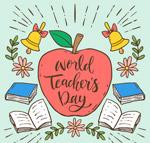 教师节苹果书籍