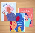 女子感谢卡片
