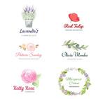 彩绘花卉店铺标志