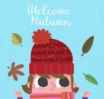 秋季毛线帽女孩