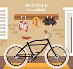 单车和装备矢量