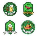 绿色啤酒节标签