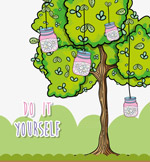 挂满许愿瓶的树