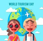 世界旅游日矢量